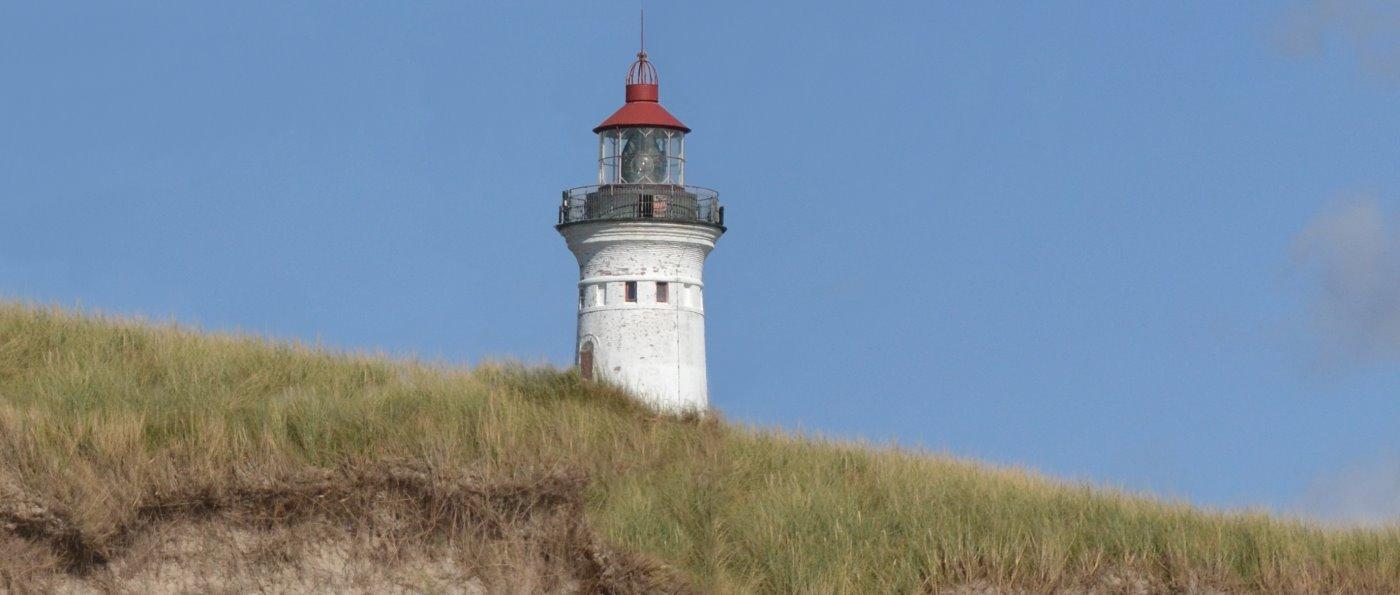 Familienurlaub in Dänemark am Ostsee Strand Leuchtturm
